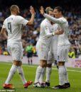 Гетры взрослые Реал Мадрид белый (Real Madrid C.F. ) 02