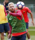 Тренировочная форма Барселона (фиолетовый рукав) (Barcelona) (2)
